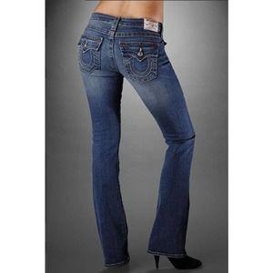 Rare True Religion Joey Super T Raw Hem Jeans